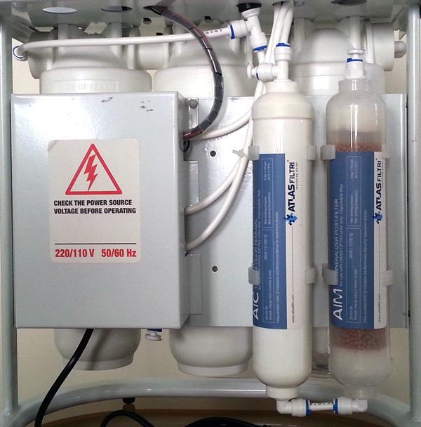 محل قرار گیری فیلتر پست کربن و مینرال در دستگاه تصفیه آب خانگی