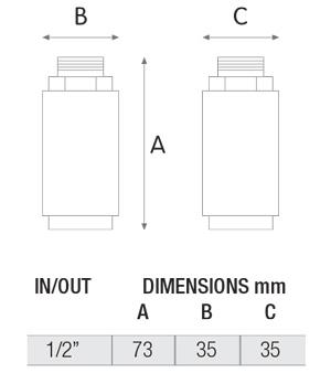 ابعاد سختی گیر مغناطیسی