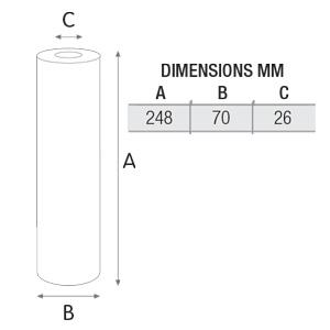 فیلتر تصفیه آب کربن بلاک