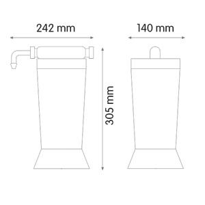 ابعاد تصفیه آب قابل حمل